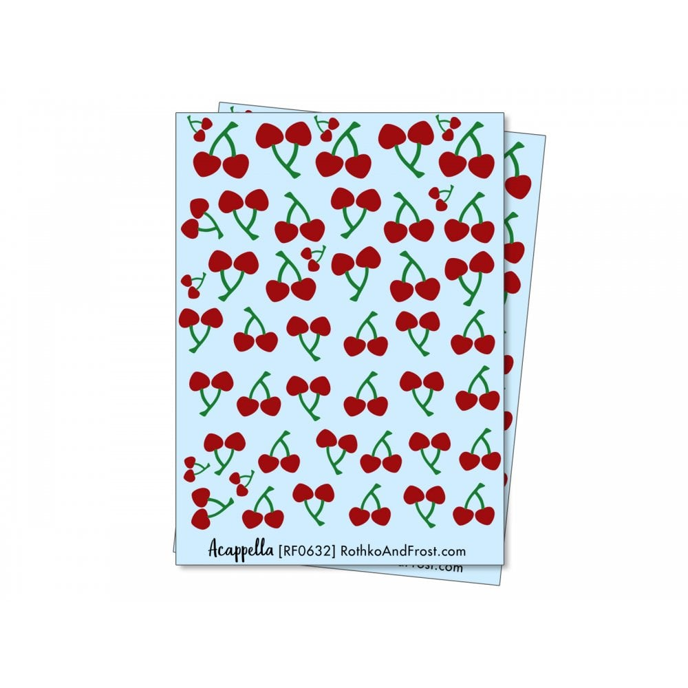 Acappella Double Cherries Nail Decals | R&F