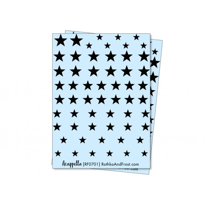 Acappella Five Pointed Star Nail Decals