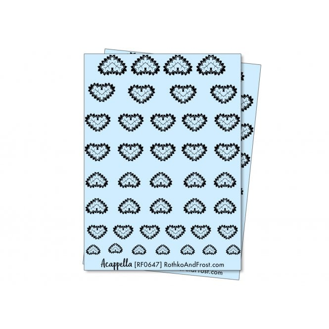 Acappella Lace Hearts Nail Decals