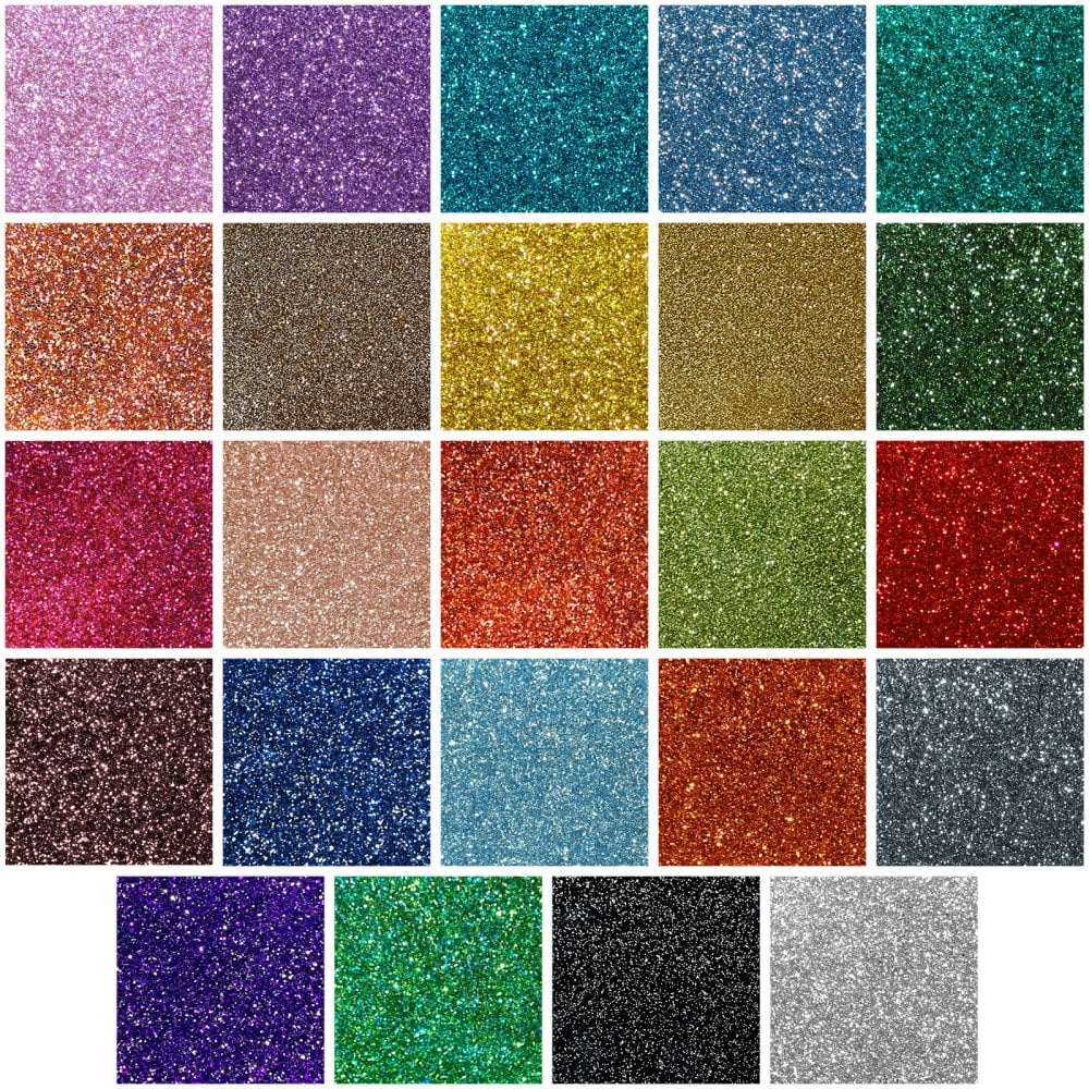 Incudo 2-Sided Glitter Acrylic Sheet Sample Pack - Set of ...