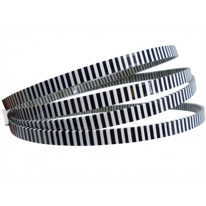 Incudo Black/White Checker Celluloid Binding and Purfling Edging Strip - 1480x6x2mm (58.3x0.24x0.08