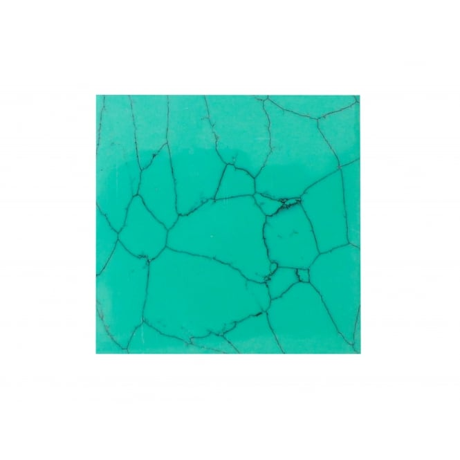 Incudo D Natural Turquoise Reconstituted Stone Inlay Blank - 50x50x1.5mm (2x1.97x0.06