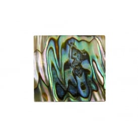 Green Abalone Inlay Blank - 25x25x1.3mm (1x0.98x0.05
